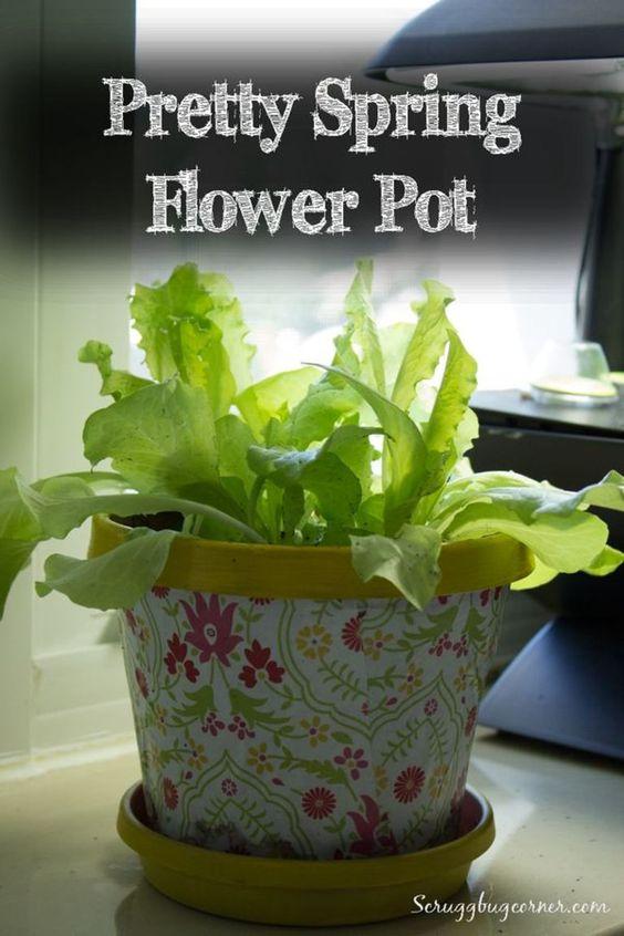 DIY Decoupage Flower Pot