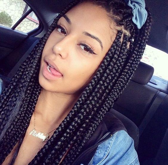 Cute | Box braids FAQs: http://www.braidsbysarafina.com/blog/box-braids-hairstyles-faqs/