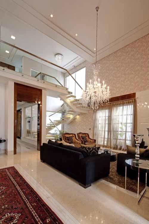 Lustres e lumin rias para sala de estar pe direito duplo for Lustres para sala de estar