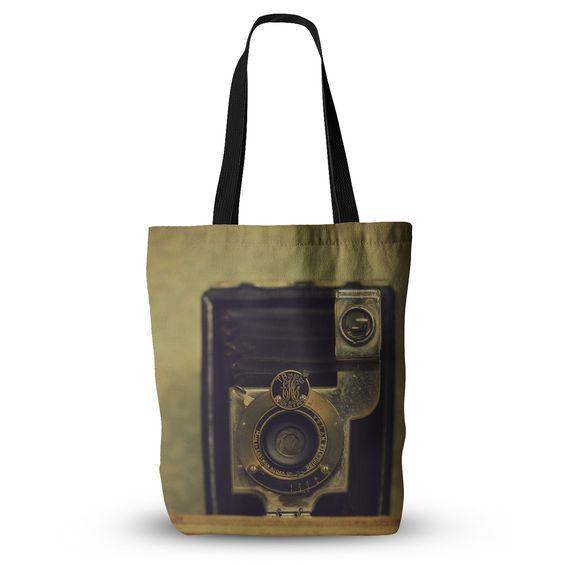 "Robin Dickinson ""EKC Jan 1910"" Brown Tan Tote Bag, 13"" x 13"" - Outlet Item"