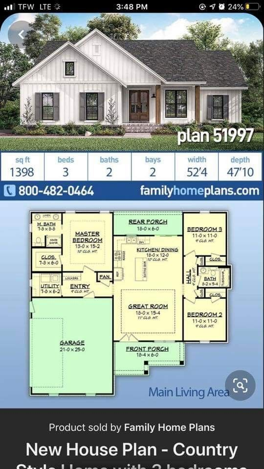 My Favorite Plan With Modifications In 2020 Country House Plans New House Plans House Plans Farmhouse House plans for small country homes