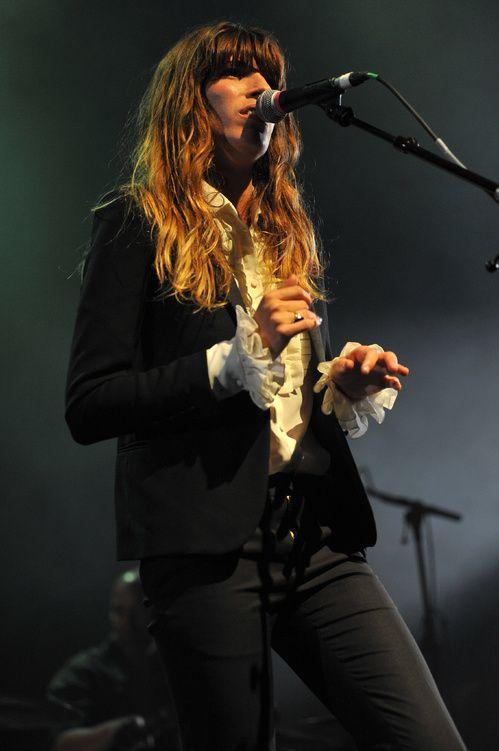 Lou Doillon lors d'un concert à Londres