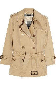 Burberry Brit|Short trench coat|NET-A-PORTER.COM - StyleSays