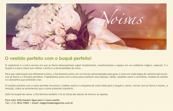 Noivas | Santa Gemma Floricultura