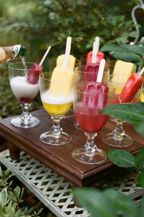Popsicle cocktails: http://www.stylemepretty.com/living/2015/03/23/25-party-foods-you-have-to-try-right-now/: