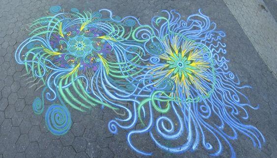 pintura com areia colorida
