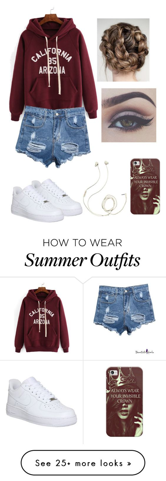 """""""Casual summer outfit"""" by squidney12 on Polyvore featuring moda, NIKE, Molami y Casetify"""