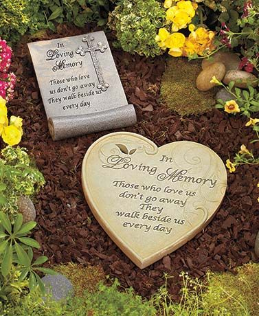 In loving memory garden stone helps you pay tribute to a lost loved one or pet it is inscribed for Garden memorials for loved ones