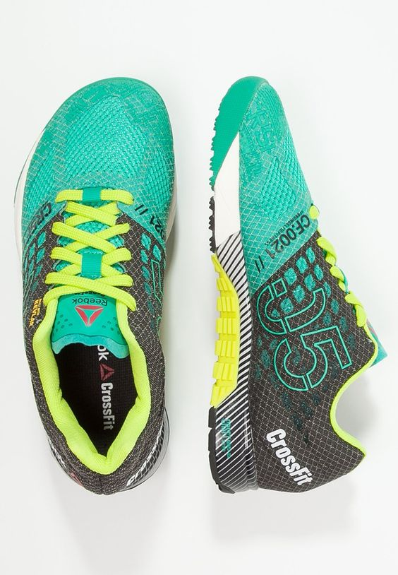 nike air max chaussures rétro - Reebok CROSSFIT NANO 5.0 - Sports shoes - green/black/yellow for ...