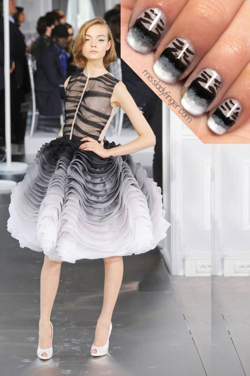 Runway nails! I could look at miss ladyfingers blog all day