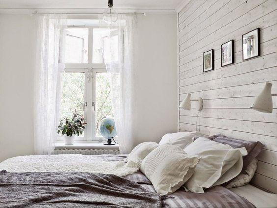 lambris bois blanc 35 ides pour inviter le style campagne chic la maison - Lambris Chambre Shabby Chic