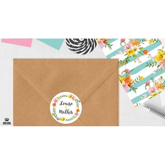 stickers mariage personnalis s fleurs de lys sont id aux pour d corer une enveloppe des bo tes. Black Bedroom Furniture Sets. Home Design Ideas
