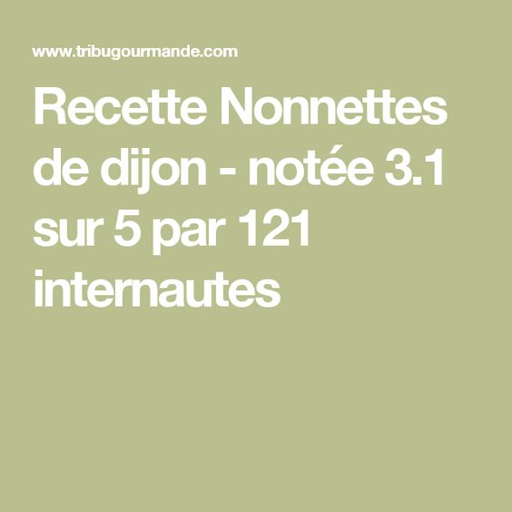 Recette Nonnettes de dijon - notée 3.1 sur 5 par 121 internautes