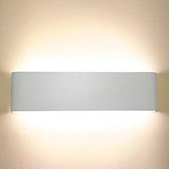 LED Außenleuchte weiß Außenlampe Wandlampe mit 3 verschiedenen Schatteneffekten
