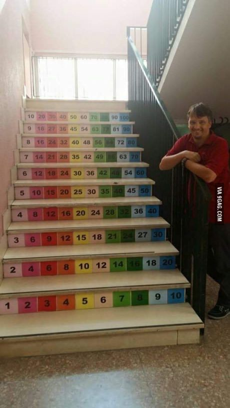 This teacher has invented a different way to teach multiplication tables