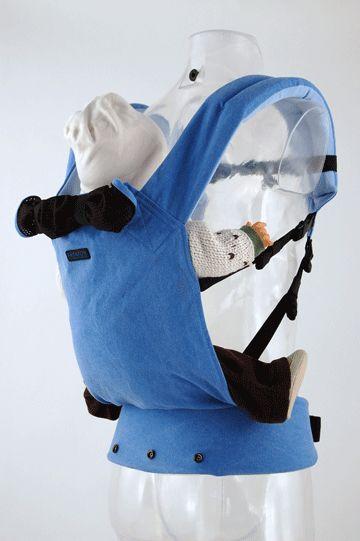 de patapum peuter is een lichte compacte draagzak voor buik en rugdragen