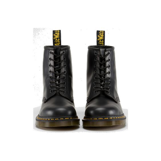 Dr Martens 1460 Boot BLACK SMOOTH - Doc Martens Boots and Shoes ($155) ❤ liked on Polyvore