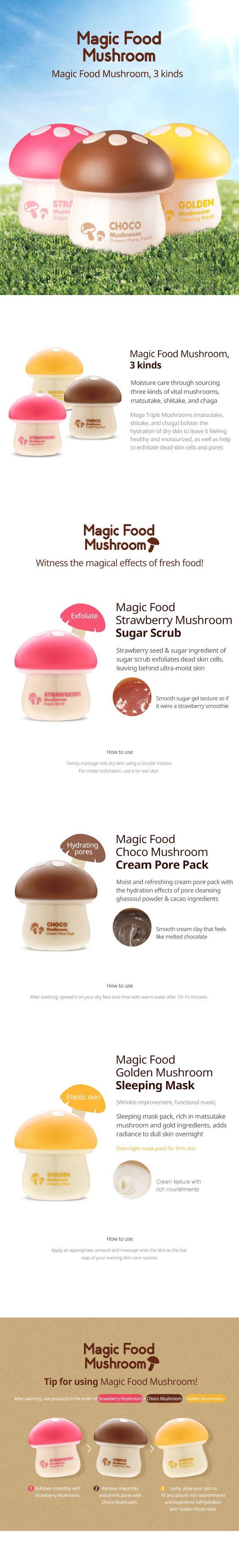 MAGIC FOOD CHOCO MUSHROOM CREAM PORE PACK