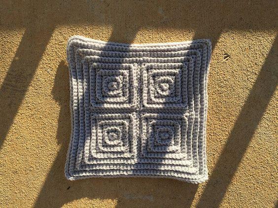 the last crochet square of a gray crochet afghan, crochetbug, textured crochet square, textured crochet blanket