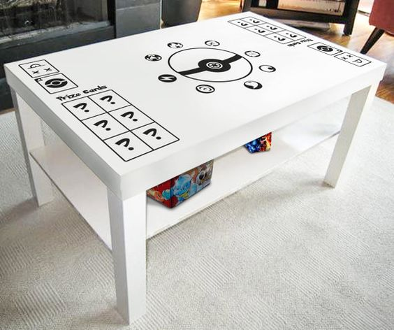 Pokemon vinyl decal create your own game table play mat for Table mats design your own