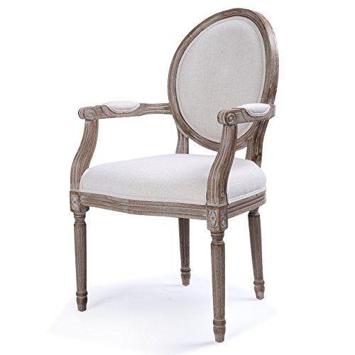 Belleze Dining Chair Side Linen Padded Armrest Classic El Https Www Amazon Com Dp B076438fnz Modern Dining Chairs Dining Chairs Leather Chair With Ottoman