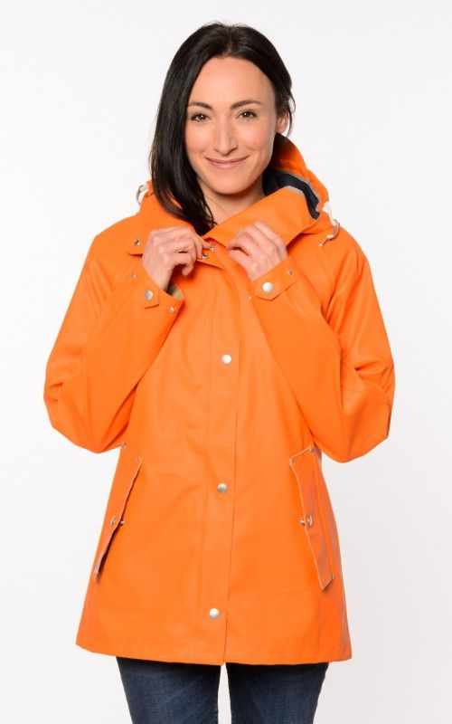 didriksons ester orange damen regenjacke friesennerz jacke. Black Bedroom Furniture Sets. Home Design Ideas