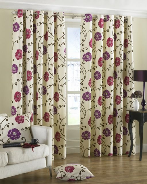 Curtains Ideas best ready made curtains uk : Geneva Eyelet Curtains Crimson Ready Made Curtains | Fabric ...
