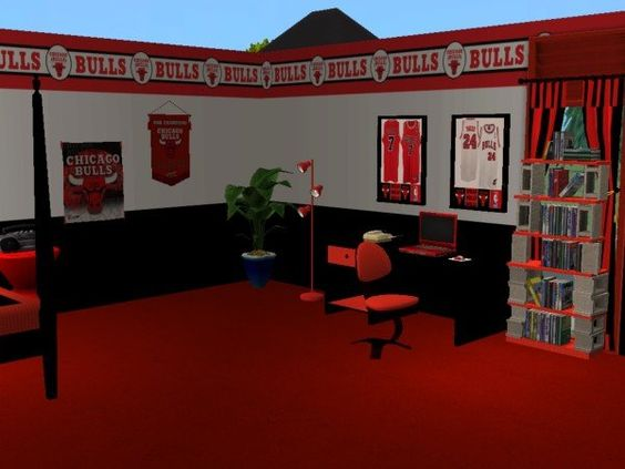 Chicago Bulls Bedroom Mod The Sims Chicago Bulls
