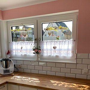 Country Gardine Heart Terracotta Topper Farmhouse Curtain Shabby Chic Vintage Scheibengardine Kitchen Valance Cantonniere Window Valance 264 In 2020 Shabby White Vintage Curtains Cool Curtains