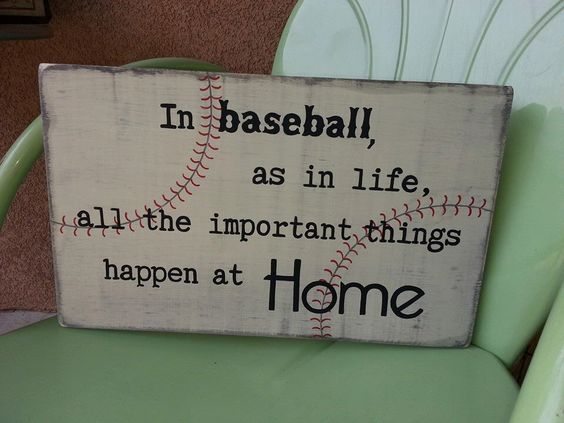 Baseball Sign - All the Important Things Happen at Home / Softball Sign / Boy's Room Sign / Man Cave Sign / Graduation Gift by EmeraldCustomSigns on Etsy https://www.etsy.com/listing/123363202/baseball-sign-all-the-important-things