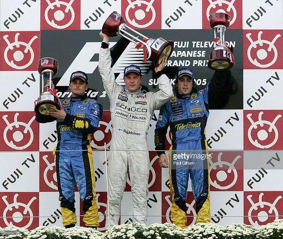 Kimi Raikkonen na podium GP Japonii 2005 tor Suzuka