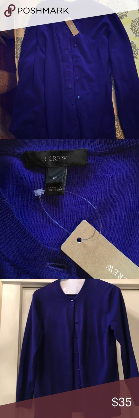 Cardigan from J Crew, NWT💜 Tippi cardigan in deep purple from J Crew . NWT J. Crew Sweaters Cardigans