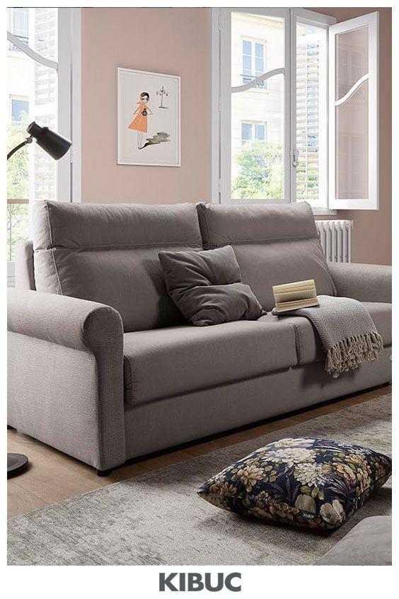 Sofacama Lisa Con Sistema Italiano Incorporado Para Apertura Fácil Sofá Camas Diseño De Interiores Salas