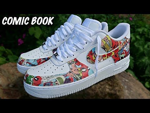 Custom COMIC BOOK Air Force 1's! (GIVEAWAY) YouTube in