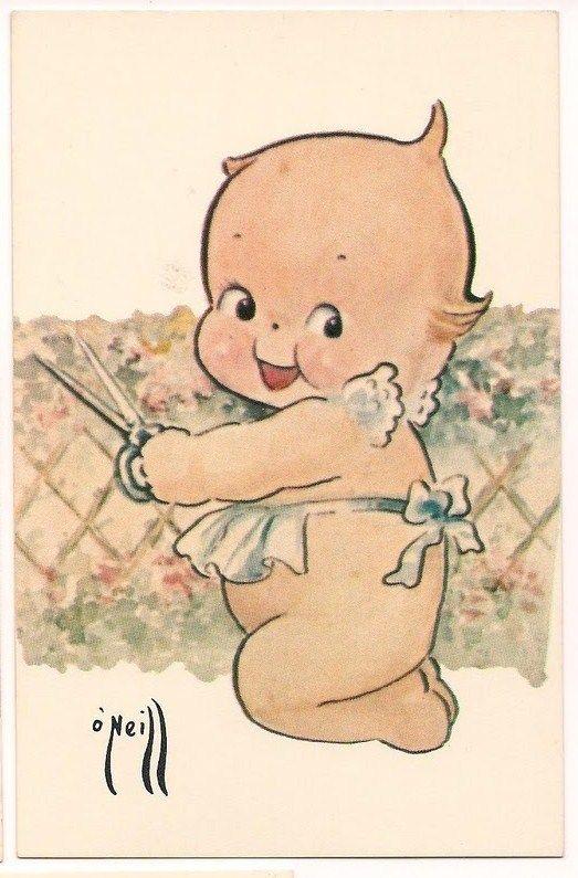 vintage clip art Kewpie doll