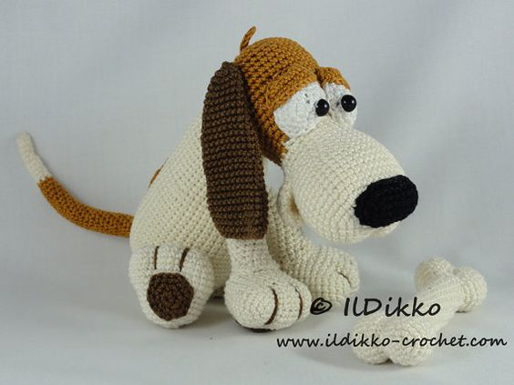 Amigurumi Crochet Pattern  Butch the Basset von IlDikko auf Etsy