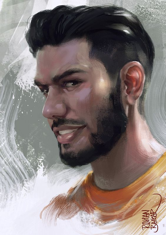 Portrait, rohan baikar on ArtStation at https://www.artstation.com/artwork/ly1eV