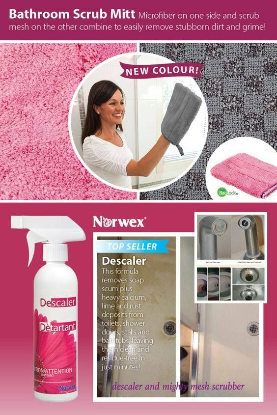 Norwex Bathroom Scrub Mitt Pink Home Kitchen Sponges