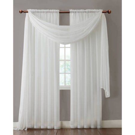 Vcny Home Infinity Sheer Rod Pocket Window Curtains Multiple