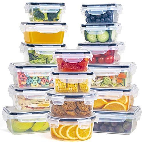 Fooyoo Food Storage Containers With Lids 16 Pc Set Stackable