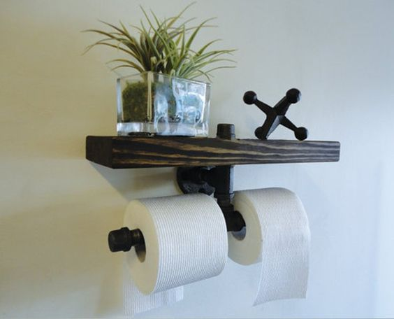 Cafe bar planken and walsen on pinterest - Decoratie van toiletten ...