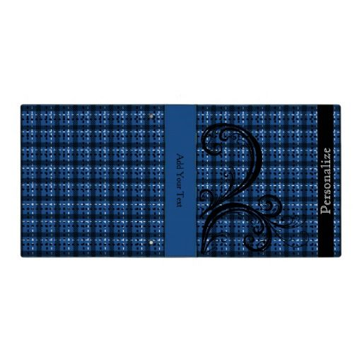 Plaid Swirly Design (Changeable Background Color) 3 Ring  #Binders #school #business #zazzlebestie #zazzle #home