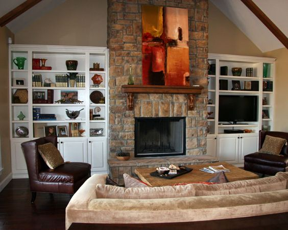 Fireplaces Bookcases and Built in bookcase on Pinterest
