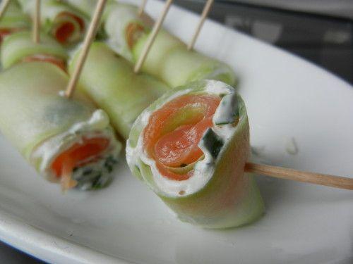 Roul s saumon concombre fromage frais c secrets gourmands blog de cuisine recettes faciles - Recette a preparer a l avance ...