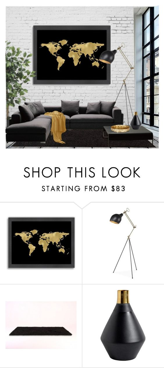 """""""Map Quest"""" by cassandra-cafone-wright ❤ liked on Polyvore featuring interior, interiors, interior design, home, home decor, interior decorating, Americanflat, Brooks and Arteriors"""