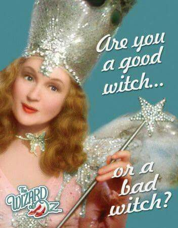 Billie Burke, as the good Witch in The Wizard of Oz: