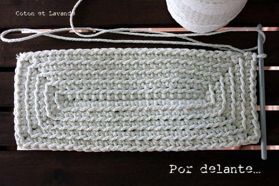 Tutorial: Como tejer una base rectangular