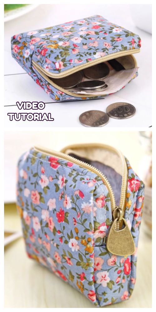 Diy 10 Minutes Coin Zipper Pouch Free Sewing Patterns Video Coin Purse Pattern Purse Patterns Free Diy Purse