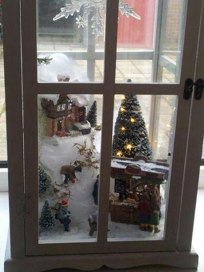 Christmas Scene in Lantern
