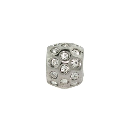 Ball of Diamonds CZ Bezels Oriana Bead - Pandora Charms Compatible